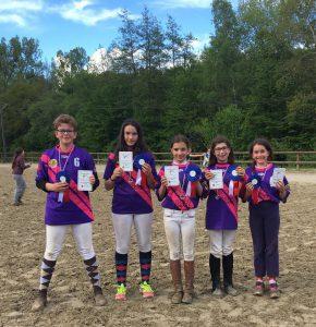 Deux médailles d'argent au championnat régional de horse ball